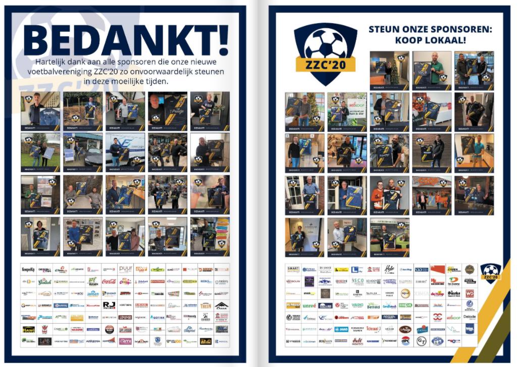 ZZC'20 dankt alle sponsoren
